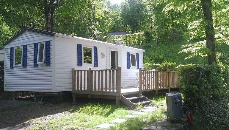 Mobil home 2 chambres camping le parc de Vaux Ambrieres les vallées 53300mh 2 ch