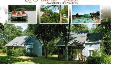 Village de Chalets camping le parc de Vaux Ambrières les vallées